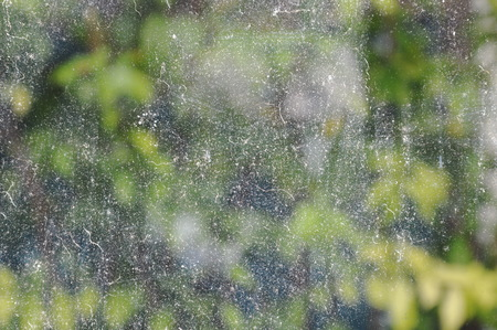 water stain: water stain on glass door in the house Stock Photo