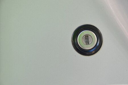 key hole: key hole of car trunk