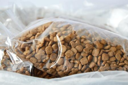 pet shop: dog food plastic bag packing for sale in pet shop
