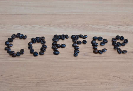 arrange: coffee bean arrange in word