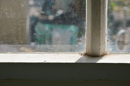 water stain on window glass