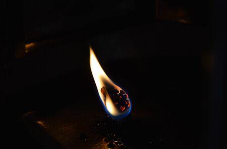 merit: merit oil lamp in Buddhist temple