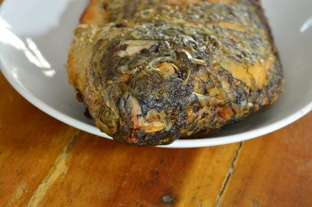 mango fish: deep fried mango fish on dish