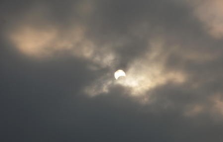 dull: solar eclipse in dull day