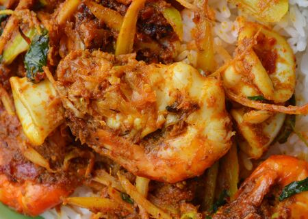 carminative: spicy stir fried shrimp and squid with herb