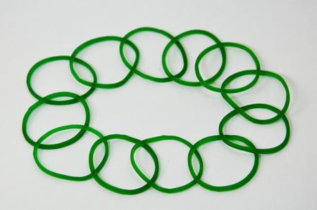 elastic band: circle elastic band on white background Stock Photo