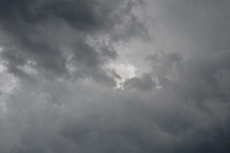 storm coming: dark raincloud on dull sky while storm coming