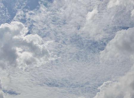 cloud drift: cloud drift on sky in sunny day Stock Photo
