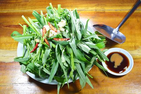 flipper: morning glory and sauce with iron flipper prepare to cook