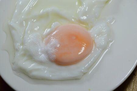 digest: boiled egg on white dish