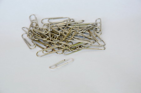 paperclip on white background