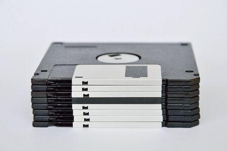 diskette: diskette on white background