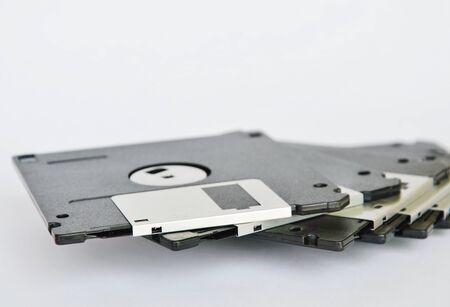 floppy disk on white background Stock Photo