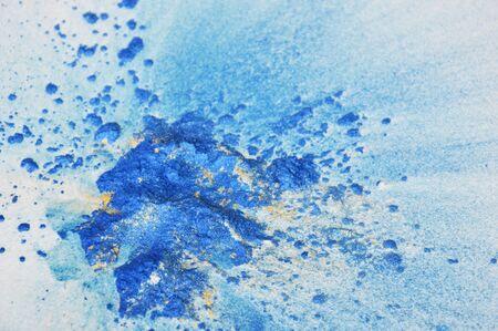 emanate: color powder spread on white paper
