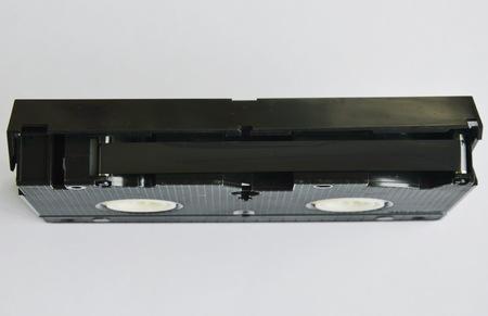 grabadora: video tape recorder on white background