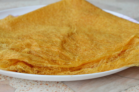 lunar month: Thai sweet made from flour and egg for merit day in tenth lunar month Stock Photo