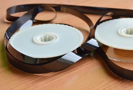 deconstruct: video tape recorder reel on desk