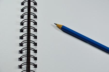 binding: sketchbook binding and blue pencil