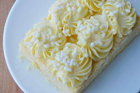 gelatina: de vainilla torta de gasa en el plato