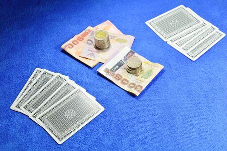 blue velvet: poker game challenging and money bet on blue velvet table