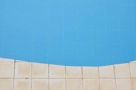edge: curve edge of blue tile pool