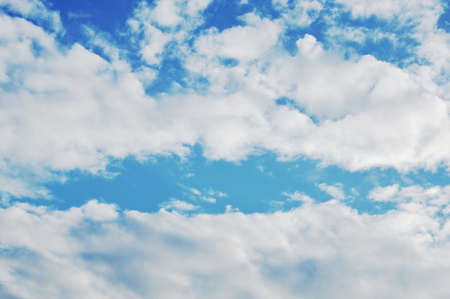 cloud and sky background on sunny day Stock Photo