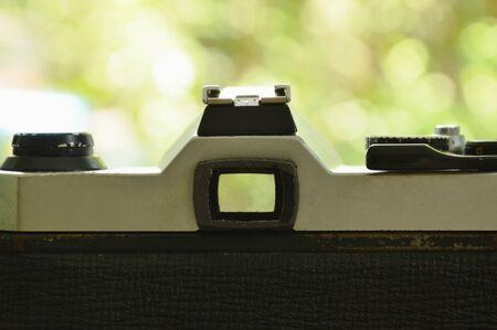 reflect: single lens reflect camera shooting to garden Stock Photo