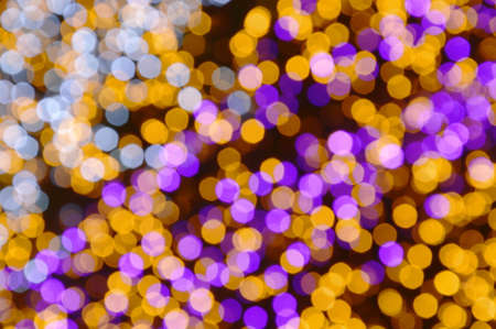 blurry colorful light background and texture in night Stock Photo