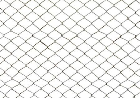 Iron wire net isolated on white background Stock Photo