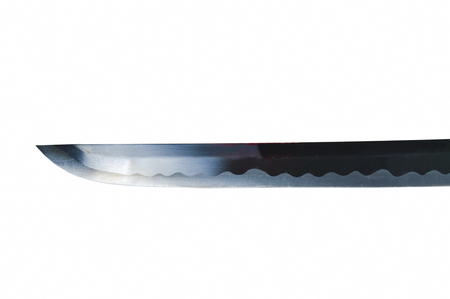 katana Japanese samurai sword blade on white background