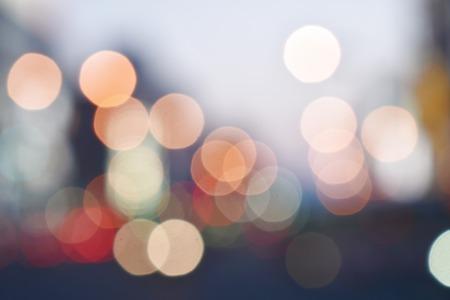 blurry of car light on street in Hokkaido Japan Reklamní fotografie