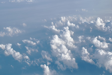 landscape of cloud floating on sky through window plane