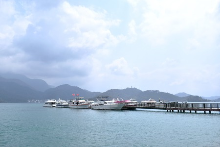landscape of sun moon lake natural travel location in Taiwan Stok Fotoğraf