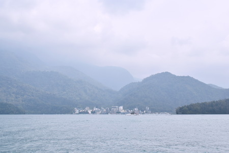 landscape of sun moon lake natural travel location in Taiwan Stock fotó