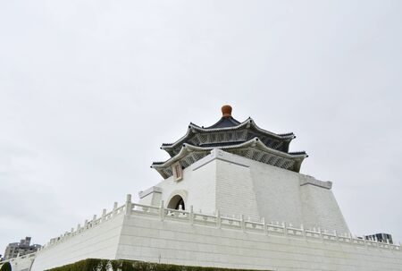 Taipei Taiwan March 30, 2019 : Chiang Kai-Shek memorial Hall the place for reverence and travel landmark Editorial