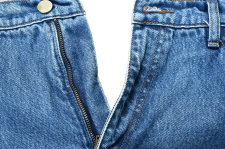 Jean zipper down texture and background