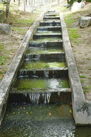 flush way for drain water and protect flooding in park