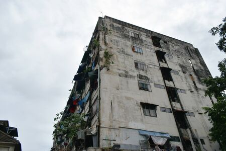 old resident building in Yaowarat Chinatown of Thailand