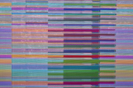 glitch on television screen without signal Banco de Imagens