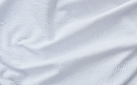 close up of white fabric background and texture