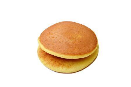 Dorayaki Japanese pancake stuffed sweet mashed bean on white background Stockfoto