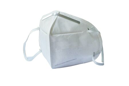 Hygienic mask for protection nose and mouth on white background