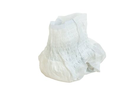 adult pant diaper wearing for absorb urine on white background Stock fotó