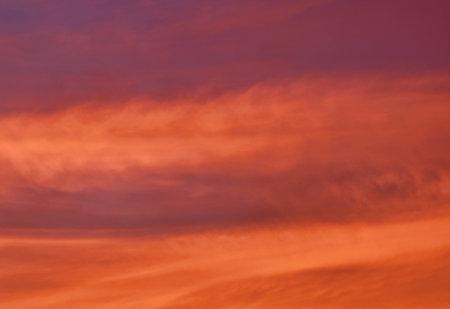 cloud spreading on sunset twilight sky in evening