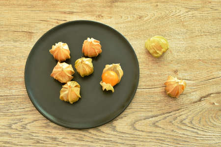 cape gooseberry peel out on table