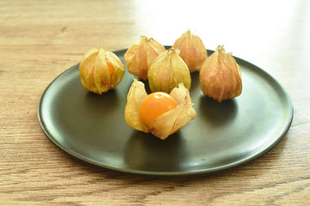 cape gooseberry peel out on white background