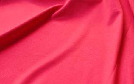 close up of red fabric texture and background Stockfoto