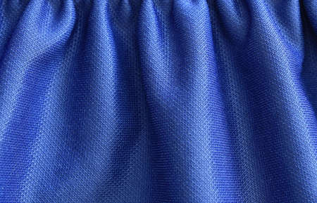 close up of blue fabric texture and background Stockfoto