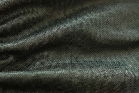 close up of black fabric texture and background