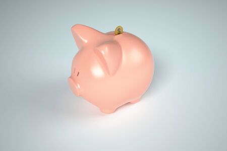 depository: Piggy Bank Money Drop Stock Photo